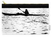 Sillouette Of Man Kayaking On Lake Carry-all Pouch