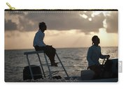 Sillouetted Man Steers Flats Boat Carry-all Pouch
