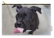 Silly Boxer Sticking Tongue Out Carry-all Pouch