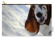 Silly Basset Hound  Carry-all Pouch