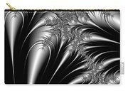 Silver And Black Abstract Carry-all Pouch