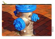 Silver And Blue Hydrant Carry-all Pouch