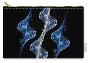 Silver And Blue Spirals Carry-all Pouch