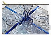 Silver And Blue Wrapped Gift Art Prints Carry-all Pouch