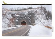 Silver Creek Cliff Tunnel Winter 1 Carry-all Pouch
