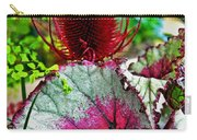 Silver Edged Rex Begonia Plant Art Prints Carry-all Pouch