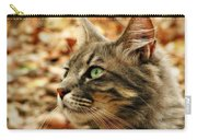 Silver Grey Tabby Cat Carry-all Pouch
