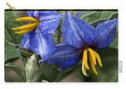 Silver Leaf Blooms Carry-all Pouch