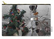 Silver Snowman With Christmas Tree Carry-all Pouch