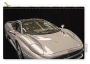 Silver Sports Car Carry-all Pouch by Edward Fielding