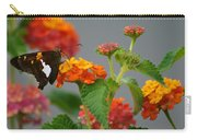 Silver-spotted Skipper Butterfly On Lantana Blossoms Carry-all Pouch