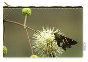 Silver-spotted Skipper On Buttonbush Flower Carry-all Pouch
