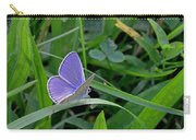 Silver Studded Blue Butterfly Carry-all Pouch