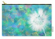 Silverpuff Dandelion Wish Carry-all Pouch by Nikki Marie Smith