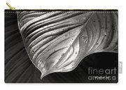 Silvertone Leaf Carry-all Pouch