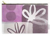 Simple Flowers- Contemporary Painting Carry-all Pouch by Linda Woods