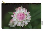 Simple White Straw Flower Carry-all Pouch