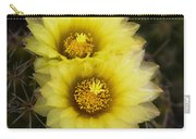 Simply Golden Cactus Flowers  Carry-all Pouch