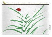 Simply Ladybugs And Grass Carry-all Pouch