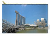 Singapore Artscience Museum Double Helix Bridge And Marina Bay  Carry-all Pouch