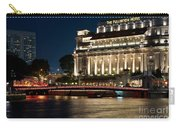 Singapore Fullerton Hotel At Night 02 Carry-all Pouch