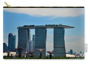 Singapore Skyline With Marina Bay Sands And Gardens By The Bay Supertrees Carry-all Pouch