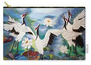 Singing In The Rain Hand Embroidery Carry-all Pouch