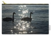 Singing Trumpeter Swans Duet  Carry-all Pouch