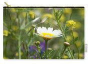 Single Daisy In A Field Carry-all Pouch