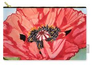 Single Oriential Poppy Carry-all Pouch