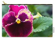 Single Pansy Carry-all Pouch
