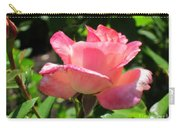 Single Pink Rose Carry-all Pouch