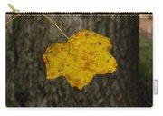 Single Poplar Leaf Carry-all Pouch
