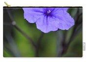 Single Purple Mexican Petunia Ruellia Brittoniana Carry-all Pouch