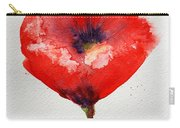 Single Red Anemone Carry-all Pouch