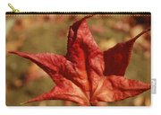 Single Red Maple Leaf Carry-all Pouch