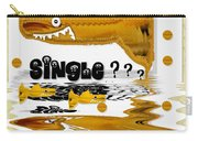Single Shark Pop Art Carry-all Pouch by Pepita Selles