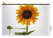 Single Sunflower Carry-all Pouch