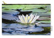Single White Lotus Carry-all Pouch
