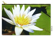 Single White Water Lily Carry-all Pouch