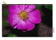 Single Wild Rose Carry-all Pouch