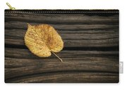 Single Yellow Birch Leaf Carry-all Pouch