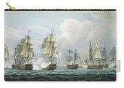 Sir Richard Strachans Action After The Battle Of Trafalgar Carry-all Pouch by Thomas Whitcombe
