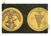 Sisseton Wahpeton Oyate Sioux Tribe Code Talkers Bronze Medal Art Carry-all Pouch