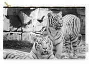 Sisters Black And White Carry-all Pouch