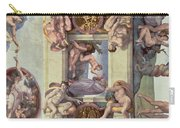 Sistine Chapel Ceiling 1508-12 The Creation Of Eve, 1510 Fresco Post Restoration Carry-all Pouch