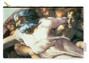 Sistine Chapel Ceiling Creation Of Adam Carry-all Pouch by Michelangelo Buonarroti
