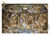 Sistine Chapel The Last Judgement, 1538-41 Fresco Pre-restoration Carry-all Pouch