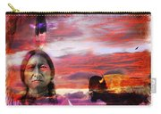 Sitting Bull Carry-all Pouch by Mal Bray