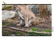 sitting Cougar Carry-all Pouch